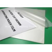 Buy cheap Clear A4 Size Laminating Pouch Film Lamination Pouches For Document from wholesalers