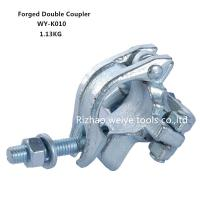 Buy cheap BS1139 Drop forged double scaffold connectors UK types / Galvanized pipe fittings from wholesalers