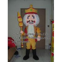 Buy cheap poker king mascot costume/customized fur person character mascot costume from wholesalers