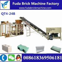 Buy cheap QT4-24B semi automatic easy operate produce paver,hollow block and so on by changing mould from wholesalers