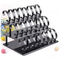 Buy cheap Black Plexiglass Acrylic Watch Display Stand / Jewelry Holder Stand , 3 Tier from wholesalers