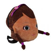 Buy cheap Crystal Velboa Kids Plush Backpack Embroidery / Print Logo Mini Size from wholesalers