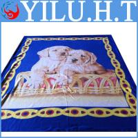 Buy cheap 100% polyester dog animal print polar fleece print blanket from wholesalers