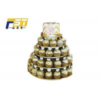Buy cheap CMYK Printing 3 Tier Cardboard Cupcake Stand Customized Providing Mockup Design from wholesalers