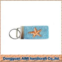 Buy cheap AIMI Needlepoint shipping and boat design custom leather key chain wholesale 1*3 from wholesalers