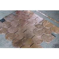 Buy cheap Durable Copper Waterproof Fish Scale Asphalt shingles / Fiberglass Roofing Tile from wholesalers