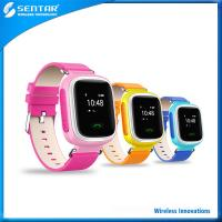 Buy cheap Healthy harmless product Imitation leather pink/blue/orange kids smart watch product