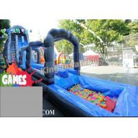 Buy cheap Blue / Green Customized Inflatable Water Slide With Constant Blowing System from Wholesalers