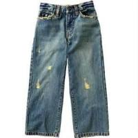 Buy cheap Breathable Beaded Anti - Bacterial kids high waisted jeans with trendy design from wholesalers