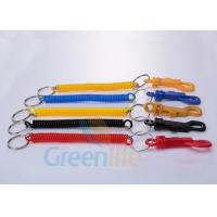 Buy cheap Economical Expandable Coiled Key Lanyard With PP Belt Clip / Split Ring from wholesalers