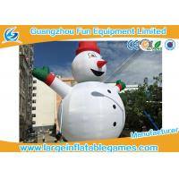 Buy cheap Gian Inflatable Advertising Products , Inflatable Snowman Christmas Decorations For Xmas from wholesalers