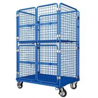 Buy cheap Logistics Laundry Rolling Container Cart Metal Steel With Door Lock from wholesalers