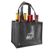 Buy cheap Durable Non Woven Fabric Wine Bottle Bags Reusable 6 Bottle Wine Tote Bag from wholesalers