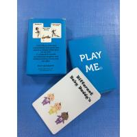 Buy cheap Full Color Custom Printable Cards Educational Playing With Wooden Tin Box from wholesalers