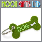 Buy cheap Custom felt keychain dog toy keychain bone shape keychain from wholesalers