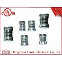 Buy cheap 3 4 Steel EMT Conduit Fittings Galvanized Compression Coupling UL Listed , Blue White product