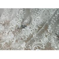 Buy cheap Embroidered Floral Sequin Tulle Lace Fabric For Bridal Couture Polyester Nylon Material from wholesalers