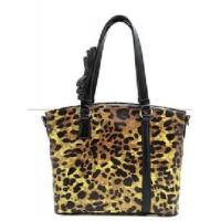 Buy cheap Classic Leopard Genuine Leather Women′s Handbag Oil Print Lady Fashion Tote Bags from wholesalers