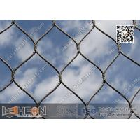Buy cheap SS316 / SS304 2.0mm  Stainless Steel Knotted Cable Mesh with 80X139mm Mesh Opening from wholesalers