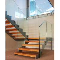Buy cheap Modern Steel Wood Straight Staircase Stairs with Customized Railing from wholesalers