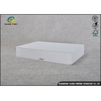 Buy cheap Customized Rigid Cardboard Gift Boxes Aqueous Coating Surface With Drawers from wholesalers