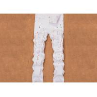 Buy cheap Pure White Pencil Feet Destroyed Jeans Mens Solid Pattern With Hole from wholesalers