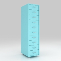 Buy cheap home Mobile Metal 10 Drawers Storage Cabinet  With Castor Wheels from wholesalers