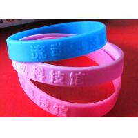 Buy cheap Low Relief Custom Silicone Rubber Wristbands Embossed Logo Lettering Raised from wholesalers