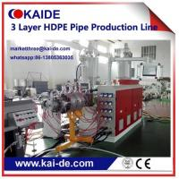 Buy cheap 20-110mm HDPE irrigation pipe production line three layer High speed Cheap price from wholesalers