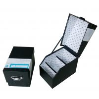 Buy cheap Black Rigid Cardboard Storage Gift Boxes with Laminated, Hot Stamping for CD Case from wholesalers