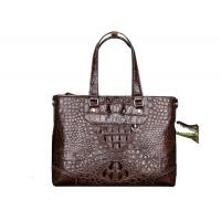 Buy cheap 2019 new crocodile leather handbag horizontal business briefcase for man from wholesalers