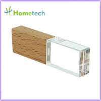 Buy cheap Wood Crystal Transparent 32GB LED Light Pen Drive from wholesalers