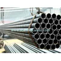 Buy cheap Scaffolding steel pipe MS pipe Black tube Q235 material EN10219  48.3mm with 1000mm,2000mm,3000mm,4000mm,5000mm,6000mm from wholesalers