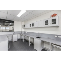 Buy cheap Trustworthy Steel Laboratory Furniture with Wall Mounted Cabinet and Central Bench from wholesalers