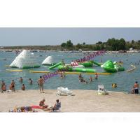 Buy cheap 20m Long Inflatable Water Parks In Lake, Floating Aquatic Sports Park For Kids Party from wholesalers