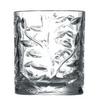 Buy cheap Leaves Pattern Hotel Dinner Glass Cup Set 9 oz White Glass Two Size Cylinder product