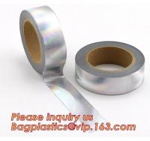 China Foil Washi Tape Holographic Gold Laser Decorative Reflective Customized on sale
