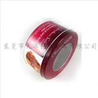 Buy cheap Round drawn candy tin box with pvc window from wholesalers