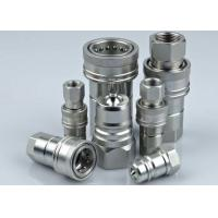 Carbon Steel Hydraulic Quick Connect Couplings , LSQ-ISOA Hydraulic Quick Disconnect Fittings