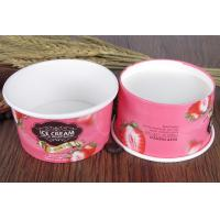 Buy cheap Pink Paper Ice Cream Sundae Cups , Vegetables Paper Salad Bowls Eco Friendly from wholesalers