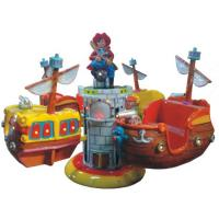 Buy cheap Red color pirate ship helicopter ride  for kids funny lifting and rotating game machine from wholesalers