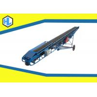 Buy cheap Industrial Flat Mobile Loading Belt Conveyor Adjustable Lifting Height from wholesalers
