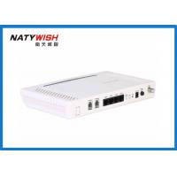 Buy cheap Indoor White EPON ONU Modem WiFi Router , 4 LAN Port 2 Phone Port FTTH Modem from wholesalers