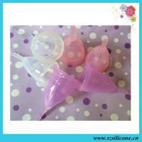 Buy cheap Personal Care green 100%medical silicone women mentrual cup for wholesale from wholesalers