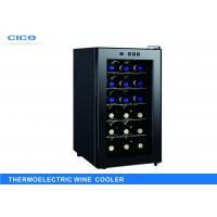 Buy cheap Freestanding 18 Bottle Thermoelectric Wine Cooler LED Temp Control from wholesalers