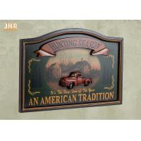 China Antique Wall Pub Sign Wooden Wall Plaques Decorative Animal Wall Art Signs Resin Car on sale