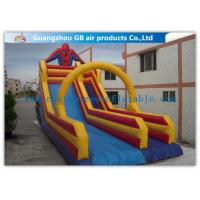 Buy cheap Red Inflatable Spiderman Bouncy Castle With Water Slide For Summer Party from wholesalers