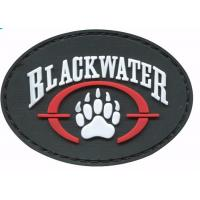 Buy cheap Colorful Sticky Hook And Loop Patches , Novelty Pvc Rubber Military Patches For Clothing from wholesalers