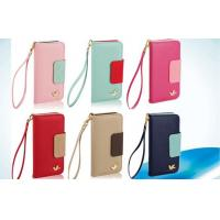 Buy cheap Magnetic Apple iPhone Leather Cases , Wallet Pink iPhone 5 Wallet case from wholesalers