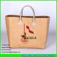 Buy cheap LUDA nice handbags purses logo printed shopping straw tote bag for promotion from wholesalers